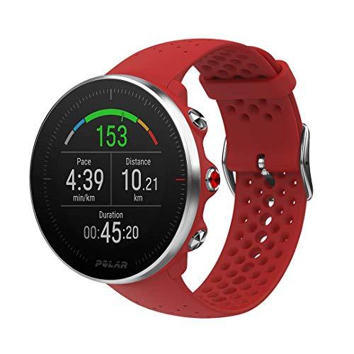 Polar Vantage M -Reloj con GPS y Frecuencia Cardíaca - Multideporte y programas de running - Resistente al agua, ligero - Rojo Talla M/L