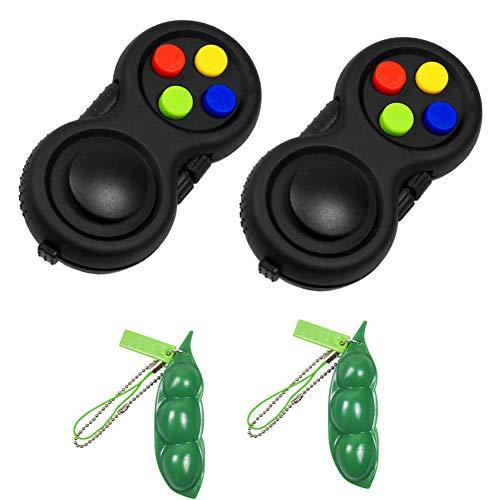 VIEKIER Fidget Pad Fidget Bohnen-Spielzeug Fidget Toys Fidget Controller Fidget Controller Stress Reducer für Stressabbau und Angst, 4 Stück