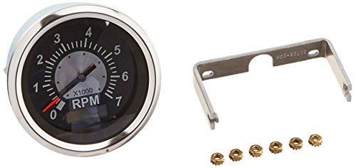 "Sierra International 67364P Sterling Tachometer/Hourmeter (LCD) for O/B & 4-Cycle Gas Engines, 3"", Black"