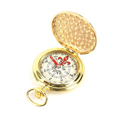 DETUCK(TM Pocket Compass Gift Antique Compass Outdoor, Vintage Copper Brass Compass, Magnetic Compass Survival Compass for Men,Women,Kids,Children,Camping,Hiking,Boating, etc.(G-11)