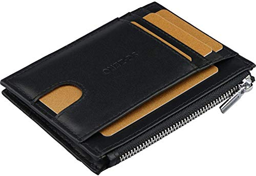 Portafoglio uomo con porta carte d'identità - Portafogli protezione RFID, spazio per 7 carte assegni, portafogli da uomo vera pelle, slim wallet uomo