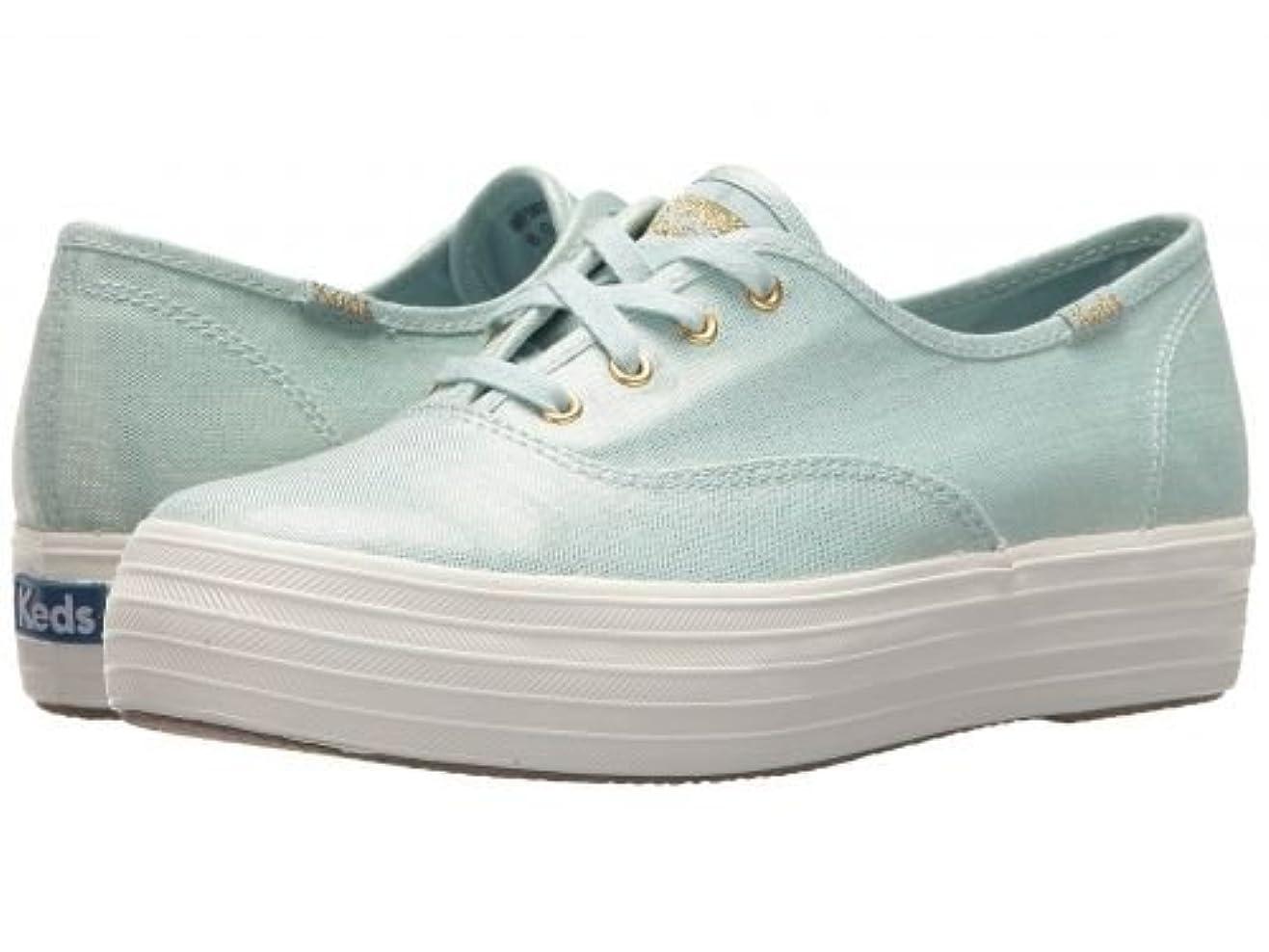 非武装化写真適格Keds(ケッズ) レディース 女性用 シューズ 靴 スニーカー 運動靴 Triple Metallic Linen - Light Blue [並行輸入品]