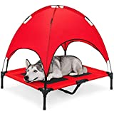 best-choice-raised-dog-mesh-cot-with-canopy
