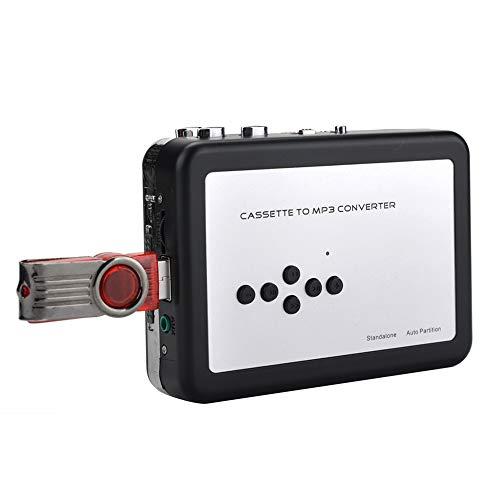 Convertidor de cassette, Reproductor de cintas de cassette Grabadora de cinta a MP3 digital, Captura de cassette USB, Ahorre directamente en la unidad flash USB, No necesita computadora