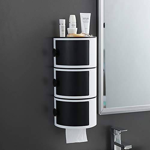Double-Layer Toilet Paper Rack, Toilet Paper Box gratis ponsen waterdicht papier Roll creatieve ladekast A3