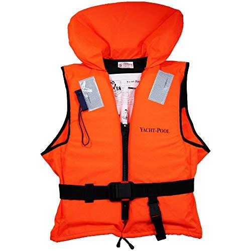 YACHT-POOL 100N Feststoff-Rettungsweste ISO 12402-4 Zertifiziert, Größe & Menge wählbar, Tragkraft (Körpergewicht):50-70kg