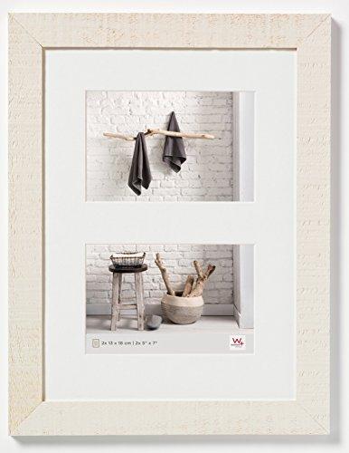 walther design HO218W Home Holzrahmen, 2 (13 x 18 cm), cremeweiß