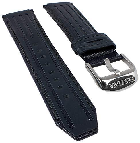 Festina Ersatzband Uhrenarmband Leder Band 25mm dunkelblau F16489/B F16489 F16488