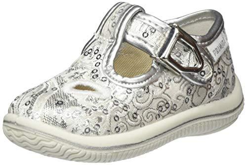 PRIMIGI Mädchen Scarpa PRIMI PASSI Bambina Sneaker, Silber (Argento 5350055), 24 EU