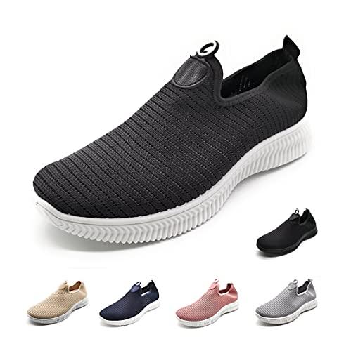 Zapatillas Deportivas para Mujer sin Cordones Muy Transpirables negrob 37