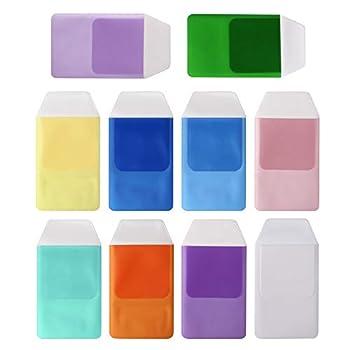 Arroyner 20 Pack Plastic Pocket Protector for Shirts Pen Lab Coats Assorted Colors