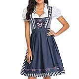 YIPUTONG Disfraz de Oktoberfest para Mujer, Vestido de sirvienta bávara, Vestidos de niña de Cerveza, Disfraces de Carnaval, Vestido Dirndl, Traje Divertido de sirvienta de Estilo étnico