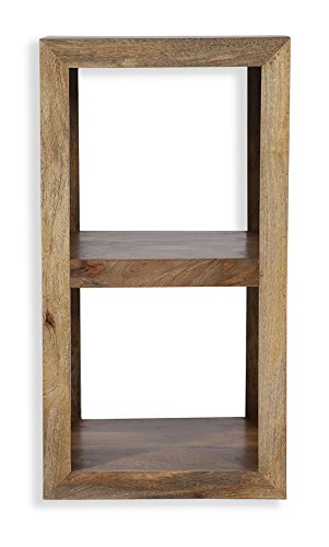Cube Mango Wood Small Display Unit/Table/Solid Mango Wood Side Table/Modern Living Room Furniture