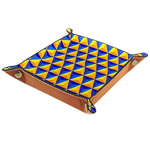 Bandeja de valet de viaje para hombre, diseño geométrico triángulo para aparador, caja de llave y cartera