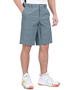 Little Donkey Andy Men's 12 Inch Bermuda Shorts UPF 50 Stretch Golf Shorts for Casual Travel Blue M