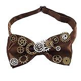 BLESSUME Steampunk Victoria Corbata de moño Retro gargantilla Corbata (Marrón)