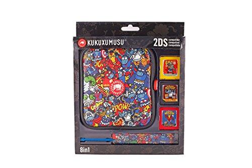 Indeca - Pack de 8 componentes E Kukuxumusu Con Funda (Nintendo 2DS) [Edizione: Spagna]