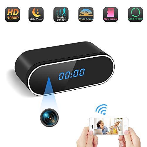 Camera Espion Réveil Caméra Cachée WiFi TANGMI HD 1080P Caméra de Nounou sans Fil Enregistreur Vidéo...