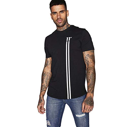 Eleven Degrees Stripe Logo Camiseta Hombre - algodón