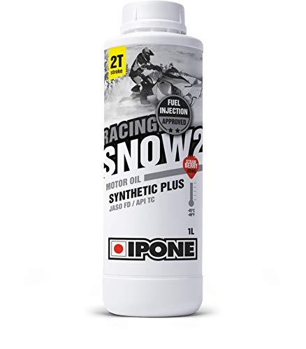 Ipone 800173 Huile Moteur Moto-Neige 2 Temps Snow 2 – 100% Synthétique avec Esters-Lubrifiant Haute Performance – Antifumée – Usage Sportif-Bidon 1 Litre – Senteur Fraise, Other