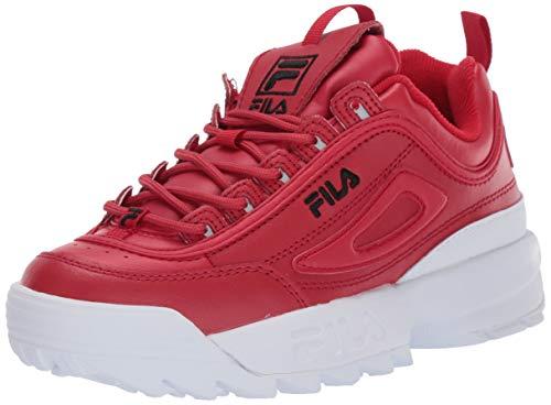 Fila Disruptor II - Zapatillas deportivas para mujer, Rojo (Rojo Fila/Negro/Blanco), 38 EU