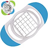 Potato Chippers French Fries Chips Cutter Slicer Perfect Potato Chip Cutter Stainless Steel Blades Cut Potatoes High Quality French Fry Chip Cutters Professional Chipping Machine Easy to Use (Blue)