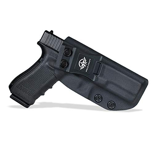 IWB Tactical KYDEX Gun Holster Pistol Pouch Softair Fondina Fits: Glock 17 / Glock 22 / Glock 31 (Gen 1-5) Pistol Case Inside Concealed Carry Holster Guns Accessories (Black, Right Hand Draw (IWB))