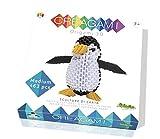 CreativaMente - Creagami Pingüino - Juego de Creatividad Origami modulares, Multicolor, 721