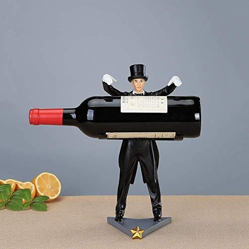 ZYYH Creative ian Decor Estante para vinos Personalidad Estante para Botellas de Vino Estante de exhibición para el hogar Estante Estante Cocina Gabinete para vinos Decoración Soporte para Vino R
