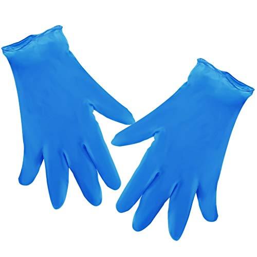 Saingace(TM) 100 guanti usa e getta in lattice blu guanti usa e getta, per la cucina e il giardinaggio. Blu M