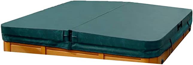 The Cover Guy Deluxe Hot Tub Cover - Custom Made Replacement Spa Cover 5 Inch Taper - Built for All Climates Including Winter - Dark Green