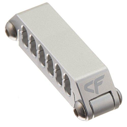 Nanoxia 900500423 CoolForce Kabelclip CC-12, Für Kabel Mit 12 Einzelnd Gesleevten Kabelsträngen, Aluminium