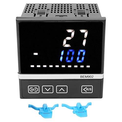 Controlador de temperatura, calentador de tanque de peces adecuado 91 x 91 mm con relé de plástico/SSR