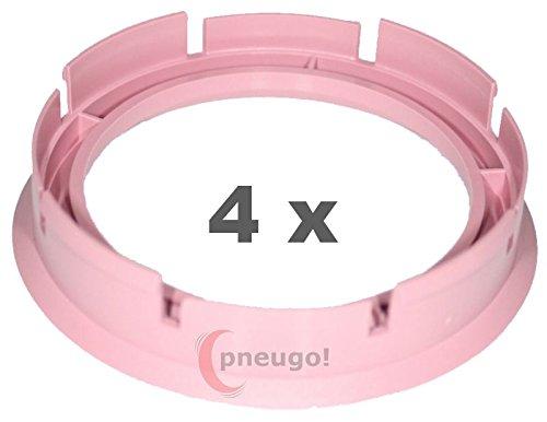 4 x pneugo! Bagues de centrage pour jantes alu 72.6 mm - 57.1 mm