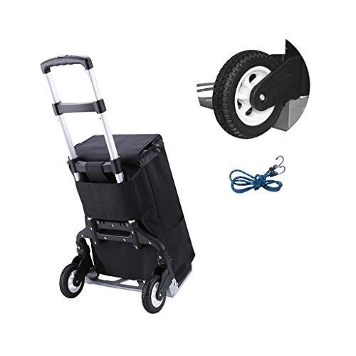 Draagbare Winkelwagen, Klim Trappen kopen Voedselwagen Huishoudelijke Opvouwbare Licht Hand Trekker Trailer, (106x39x41cm) Lostgaming