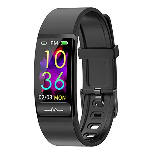 ZYY Adecuado para Android IOSM8 Pulsera Inteligente Monitor de Temperatura Ritmo cardíaco Presión Arterial Salud IP68 Reloj Impermeable Banda Bluetooth,E