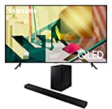 Samsung QN85Q70TA 85' 4K Ultra High Definition QLED Smart HDR TV with a Samsung HW-T650 Bluetooth Soundbar with Dolby Audio Wireless Subwoofer (2020)