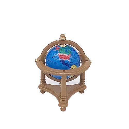 Linkay 1/12 Puppenhaus Einrichtung MöBel PuppenhausmöBel Aus Holz Teile Hussen Mini Deko Miniatur Sofa Bett Schreibtisch Puppenhaus ZubehöR (Globus braun)