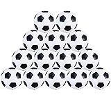 Liuer Futbolín Bolas Foosball 14PCS Reemplazos de Pelotas de fútbol DE 32 mm 36mm Mini Negro Blanco Foosball de Mesa Tamaño Estándar Balones de Fútbol ABS Plástico