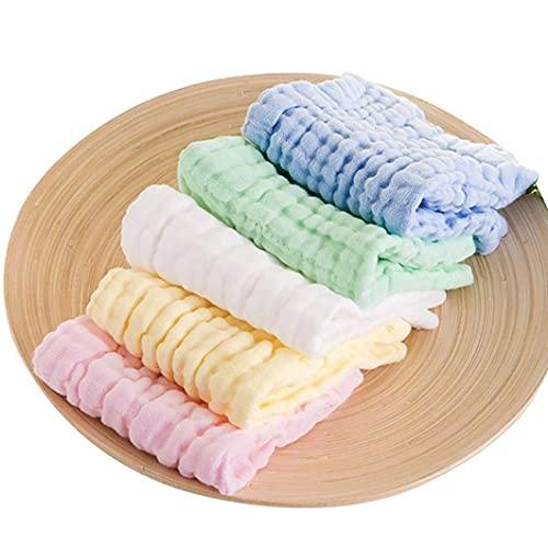5 unidades de manoplas de baño para bebé, toallas de baño para bebé, toallas de baño ecológicas suaves para bebés, toallas para la cara para bebés, adultos y niños pequeños