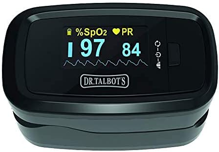 Dr.Talbot's Oxímetro De Pulso - Pulsioximetro De Dedo Con Pantalla Oled Que Medición Y Lectura Instantánea De Spo2, Pr Y Pi - Aplica Para Adultos Y Niños - Negro