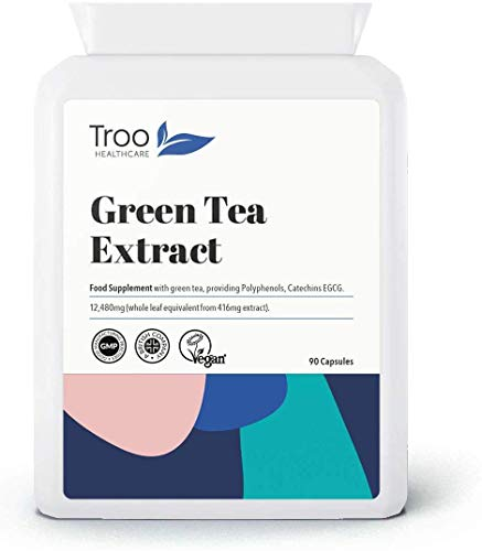 Green Tea Extract Supplement (12,480mg) - 90 Capsules - Providing Polyphenols, Catechins and EGCG - UK Manufactured to GMP Standards