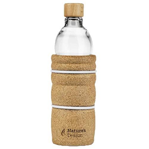 Natures-Design Lagoena Trinkflasche mit Lebensblume Weiss 0,7 Liter