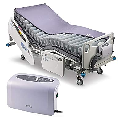 """Apex Medical Domus Auto- 8"""" Weight Sensing Technology Alternating Mattress - Automatic Pressure Adjustment - Cell-on-Cell Design - Pressure Ulcer Prevention- Fits Hospital Bed"""