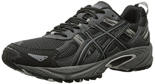 ASICS Gel Venture 5 GS Trail Running Shoe (Little Kid/Big Kid), Black/Onyx/Charcoal, 7 M US Big Kid