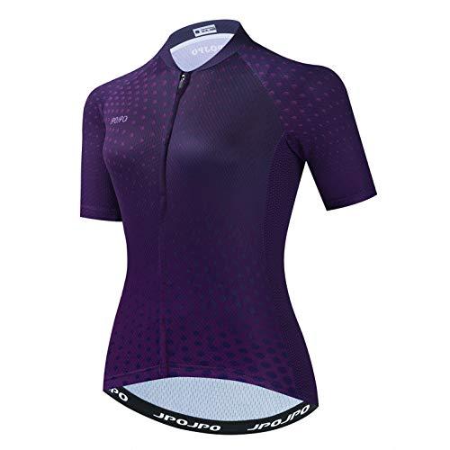 Weimostar Radfahren Trikots Fahrrad Laufen Radfahren Outdoor Sport Tops für Frauen Dark Purple XL