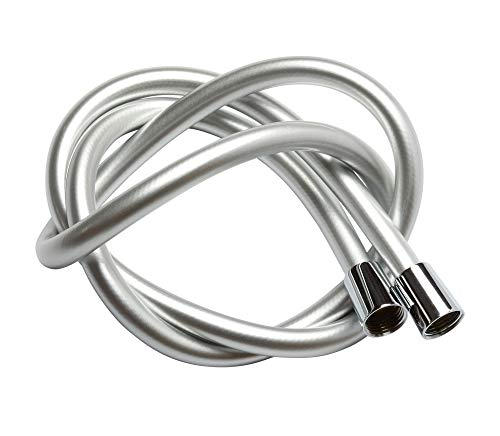 Krodo PVC Smooth Shower Hose 1.5M   59 Inch with Anti-Twist Brass Connections - Universal Replacement, Flexible, Kink and Leak Proof
