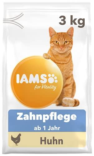 IAMS for Vitality Dental Katzenfutter trocken - Trockenfutter für Katzen ab 1 Jahr zur Zahnpflege, 3 kg
