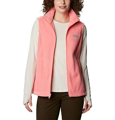 Columbia Women's Benton Springs Soft Fleece Vest, Salmon, Medium Petite