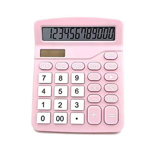 """Calculadora Científica a Color de 12 Dígitos, Batería y Pantalla LCD de Energía Solar Híbrida, Ideal para Estudiantes y Profesionales, 4.7""""x 5.7"""" x1.8"""